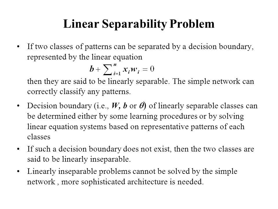 Linear Separability Problem