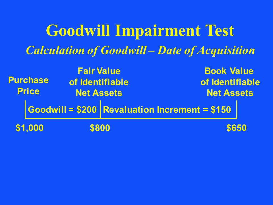 Goodwill Impairment Test of Identifiable Net Assets
