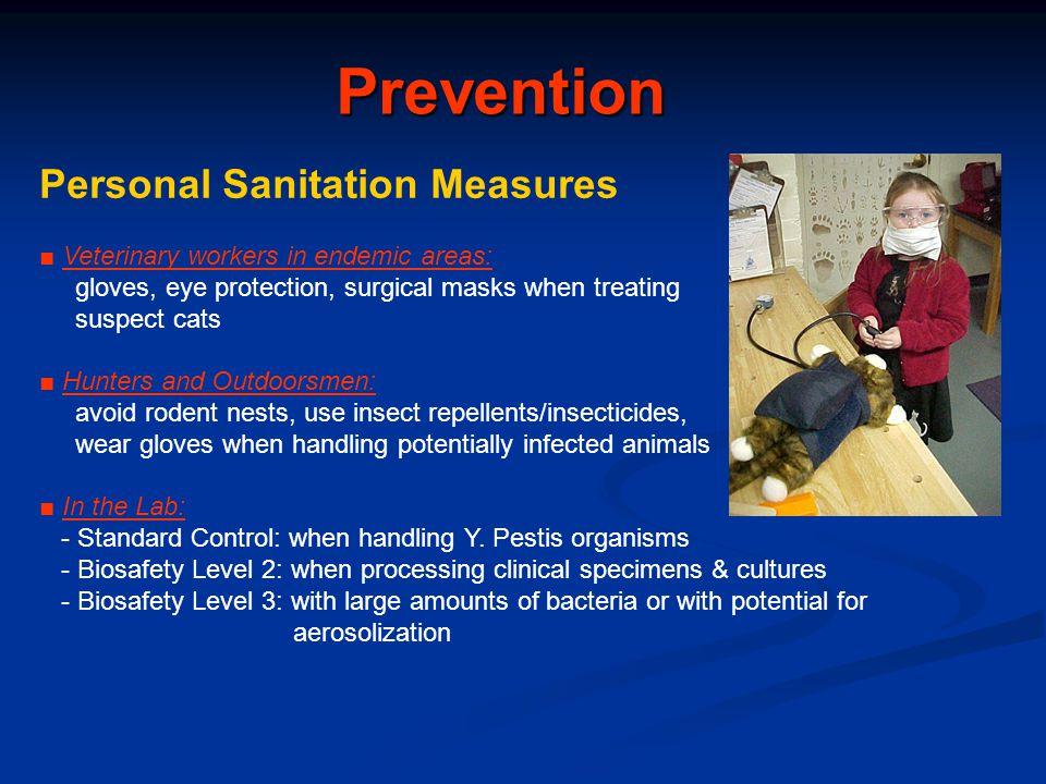 Prevention Personal Sanitation Measures