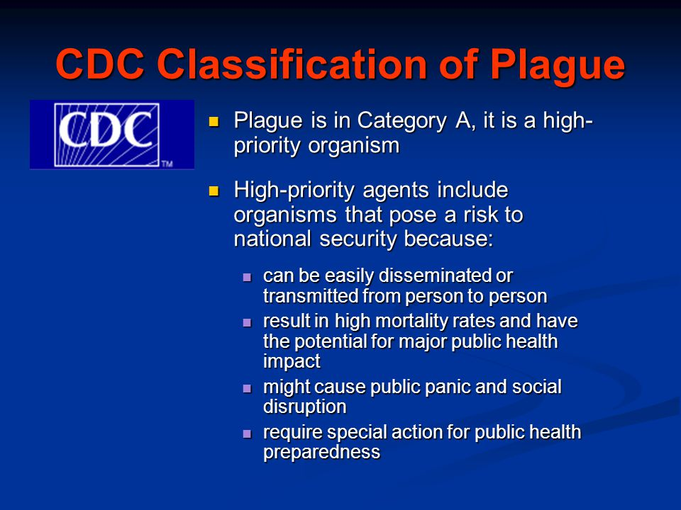 CDC Classification of Plague