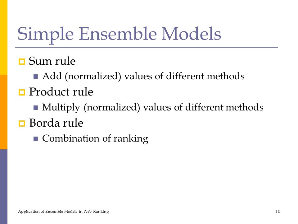 Simple Ensemble Models