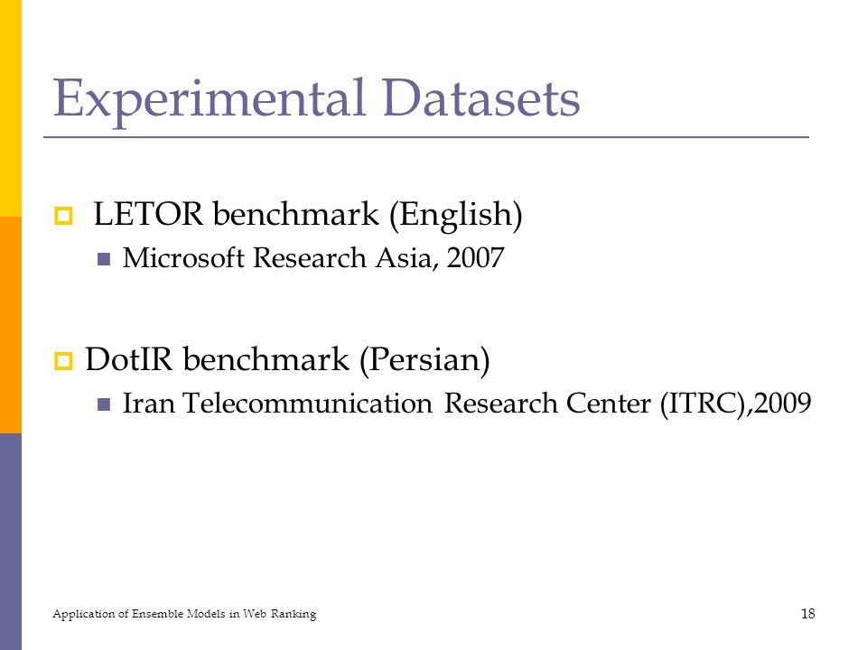 Experimental Datasets