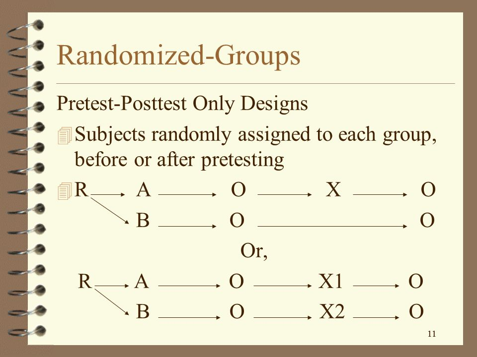 Randomized-Groups Pretest-Posttest Only Designs