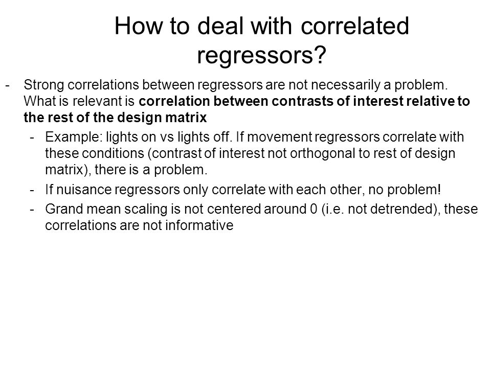 How to deal with correlated regressors