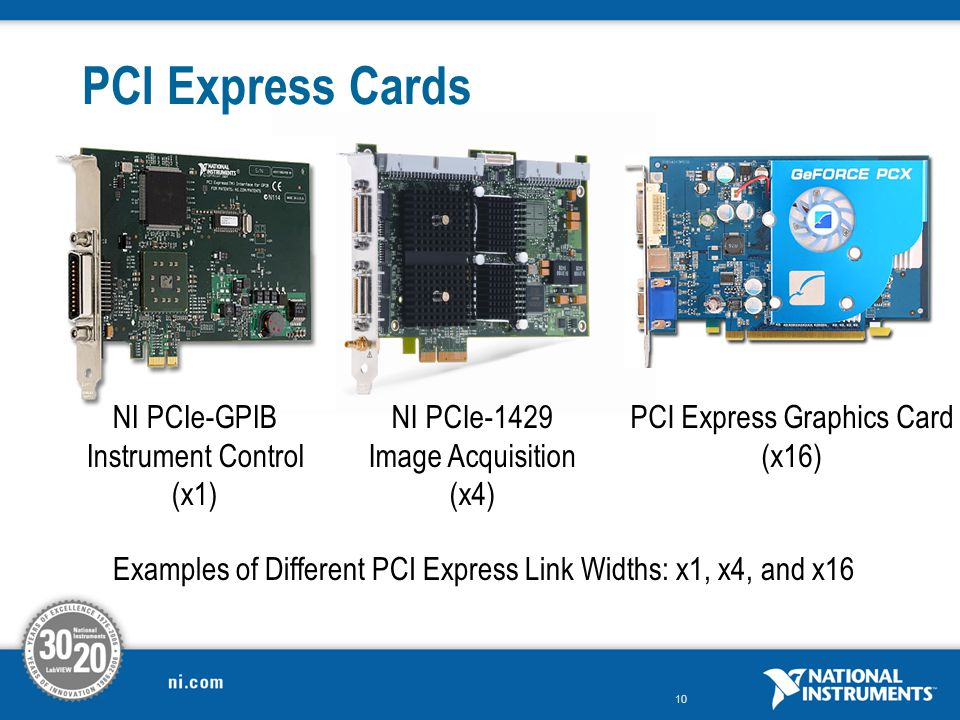 PCI Express Cards NI PCIe-GPIB Instrument Control (x1) NI PCIe-1429