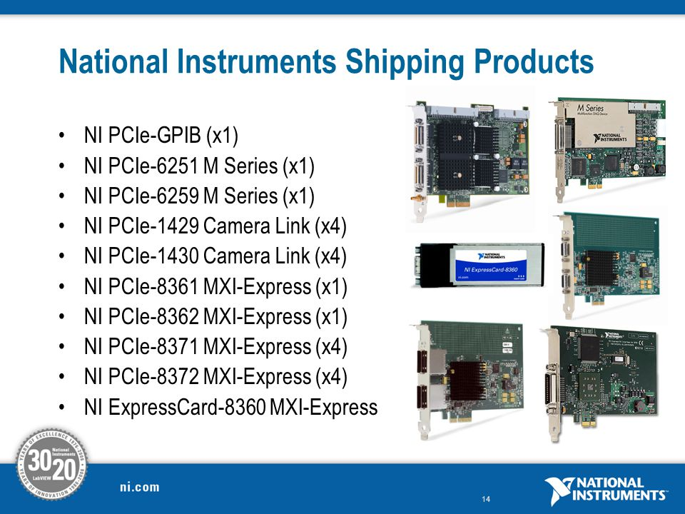 National Instruments Shipping Products