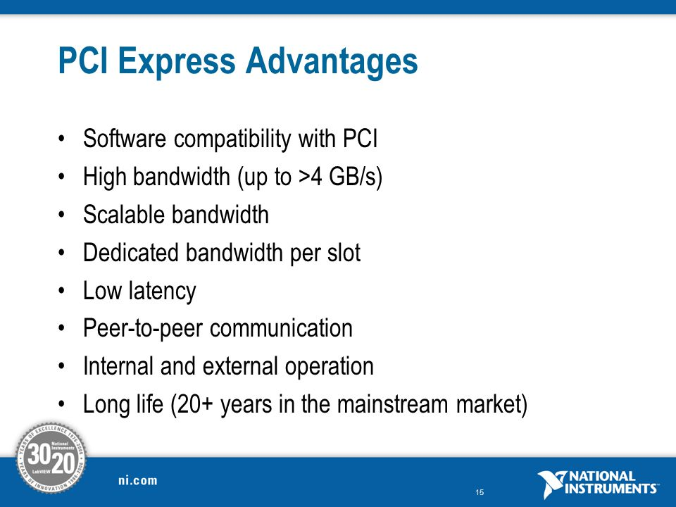 PCI Express Advantages