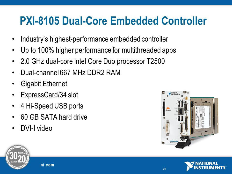 PXI-8105 Dual-Core Embedded Controller