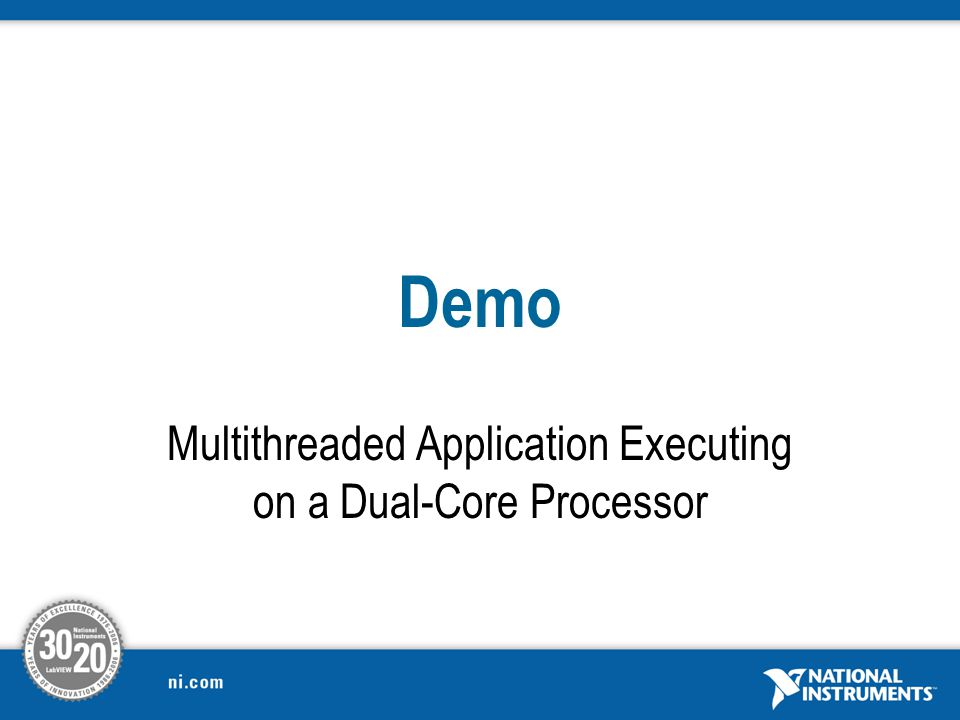 Multithreaded Application Executing on a Dual-Core Processor