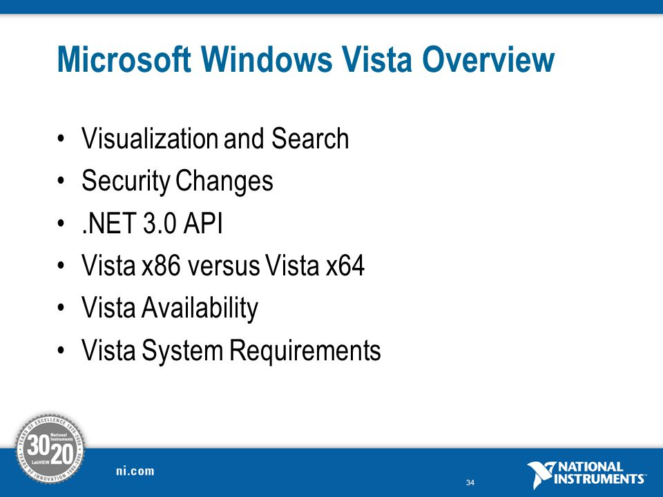 Microsoft Windows Vista Overview