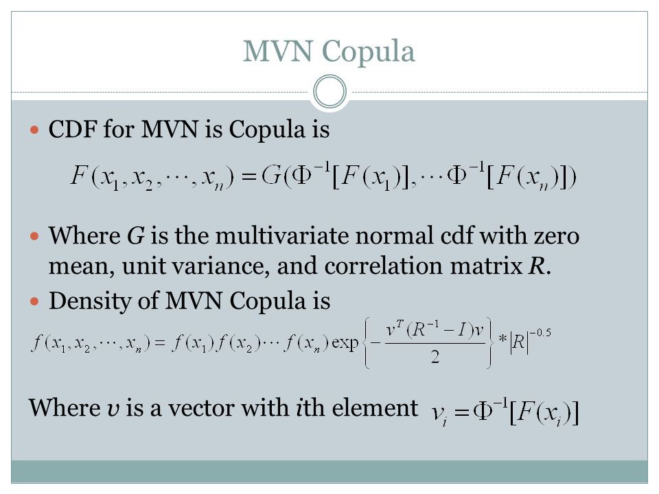 MVN Copula CDF for MVN is Copula is