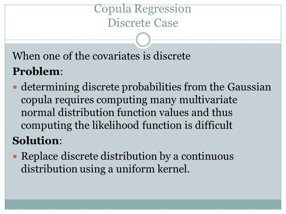 Copula Regression Discrete Case