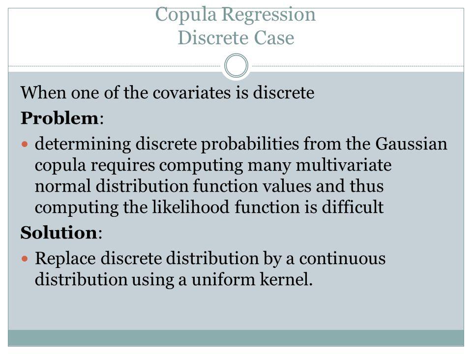 Copula Regression Discrete Case