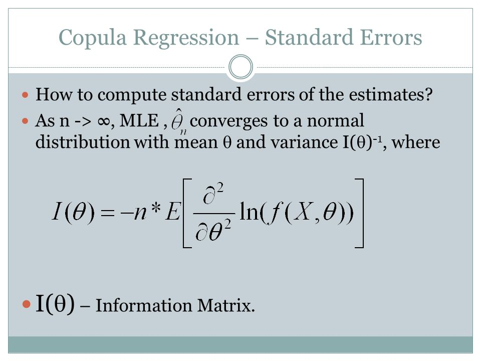 Copula Regression – Standard Errors