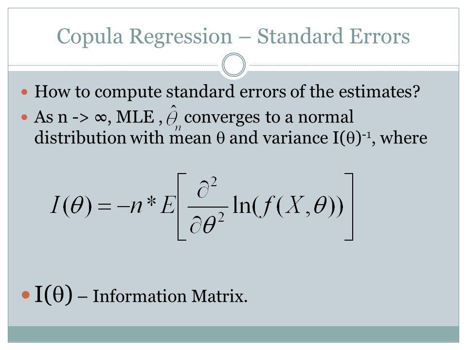 Copula Regression – Standard Errors