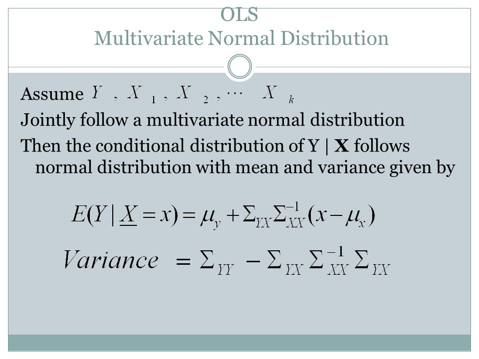 OLS Multivariate Normal Distribution