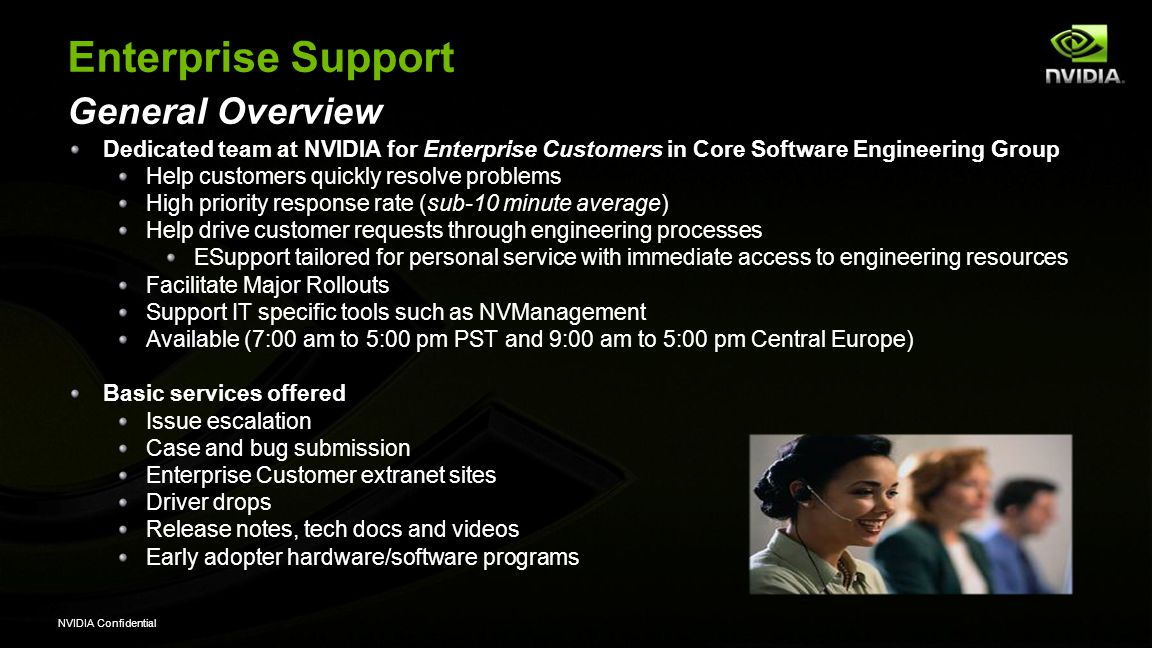 Enterprise Support General Overview
