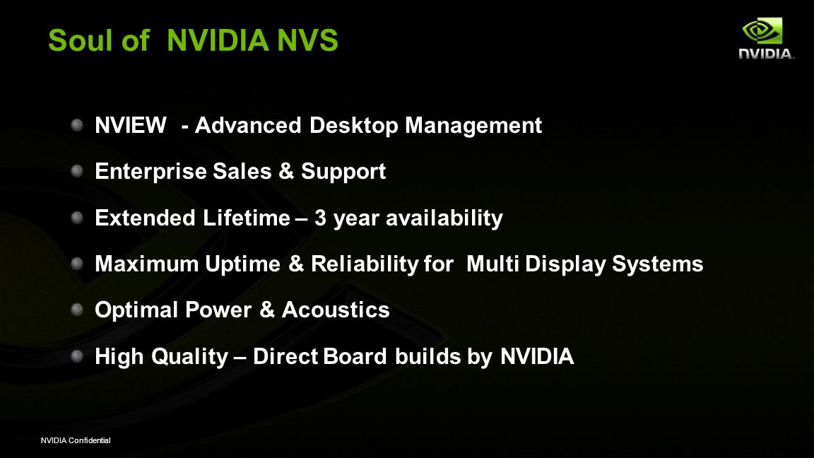 Soul of NVIDIA NVS NVIEW - Advanced Desktop Management