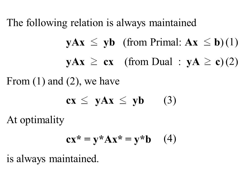 The following relation is always maintained