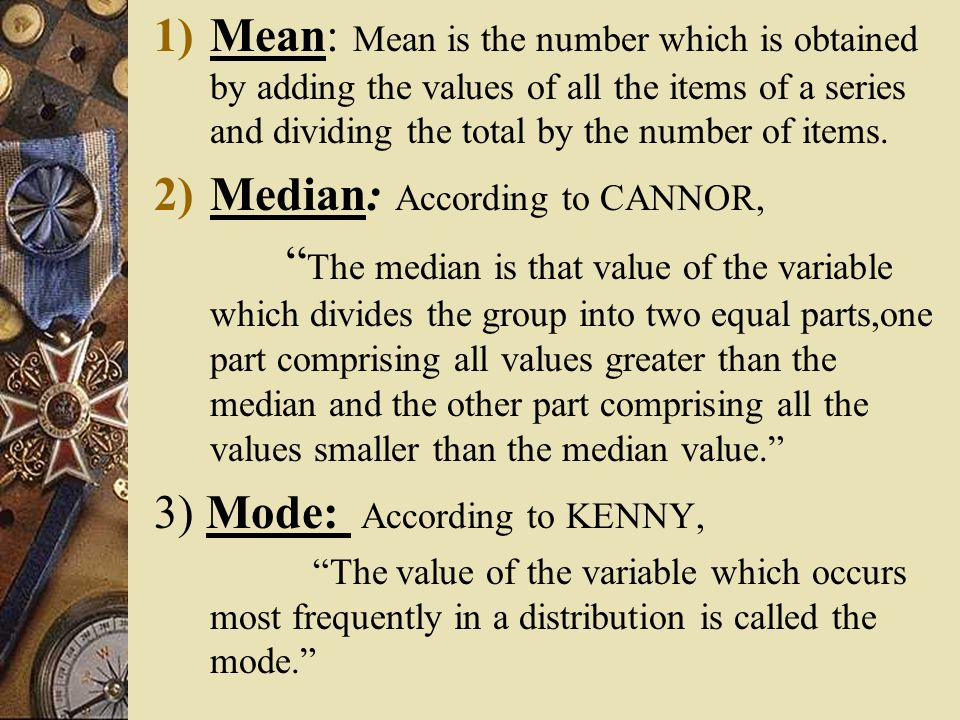 Median: According to CANNOR,