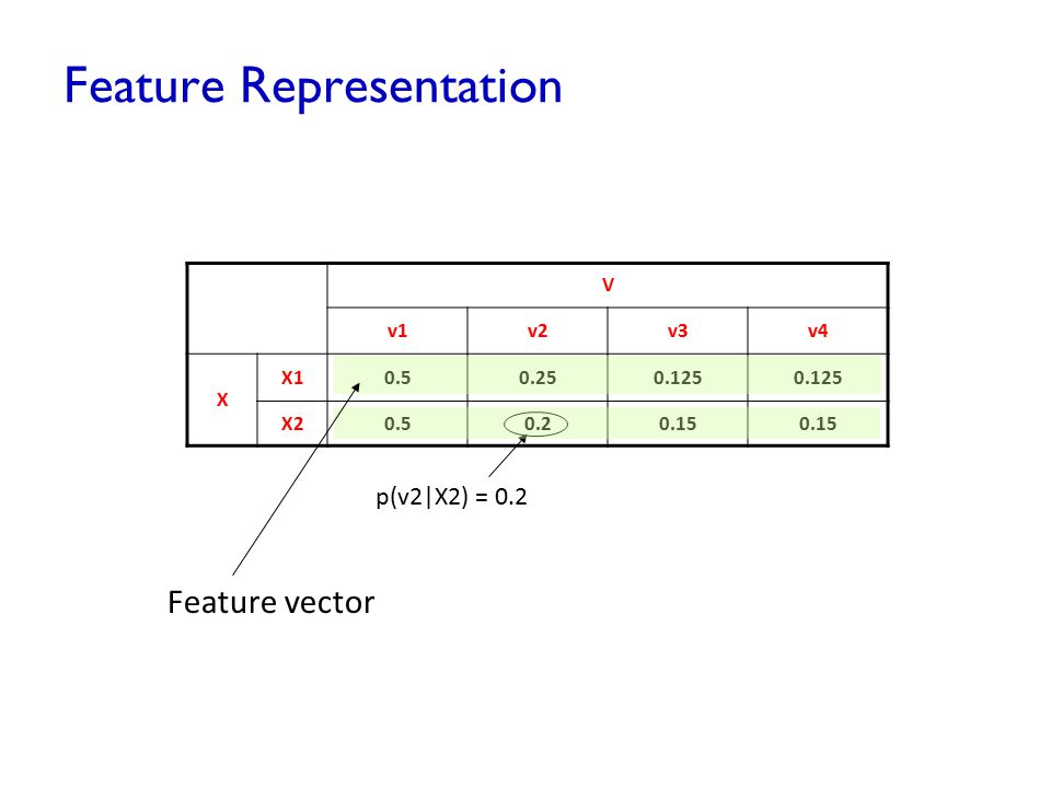 Feature Representation