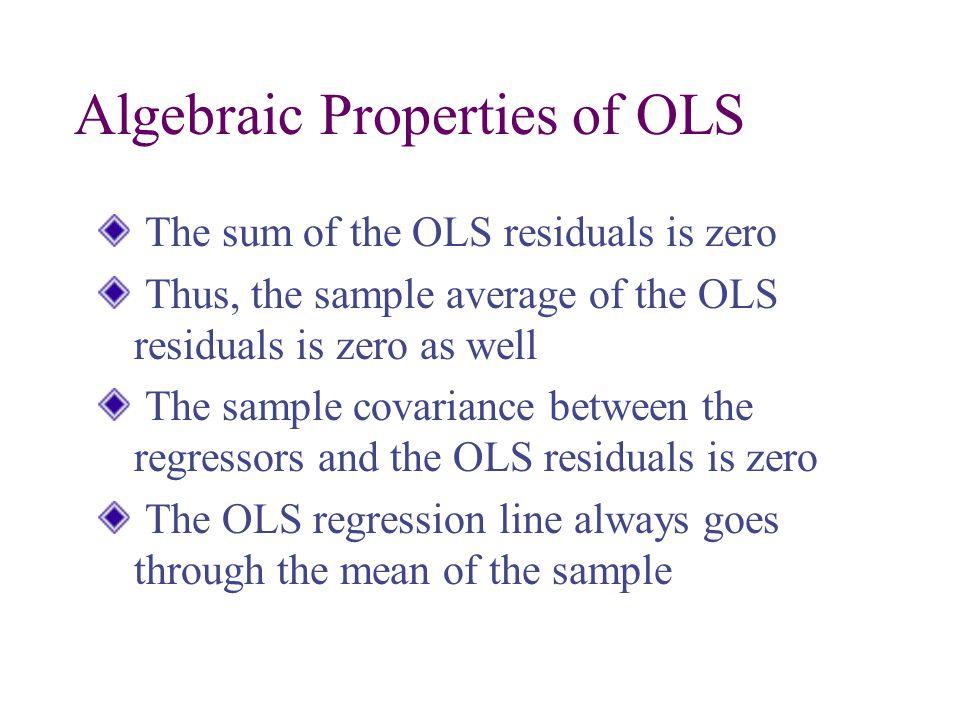Algebraic Properties of OLS