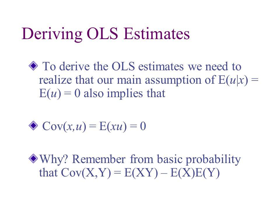 Deriving OLS Estimates
