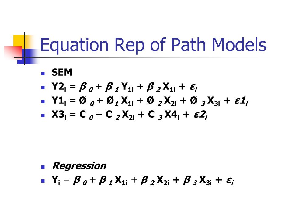 Equation Rep of Path Models