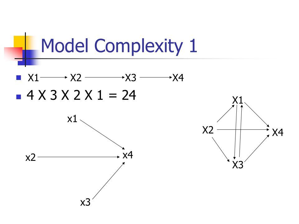 Model Complexity 1 4 X 3 X 2 X 1 = 24 X1 X2 X3 X4 X1 x1 X2 X4 x4 x2 X3