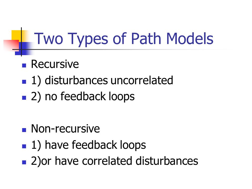 Two Types of Path Models