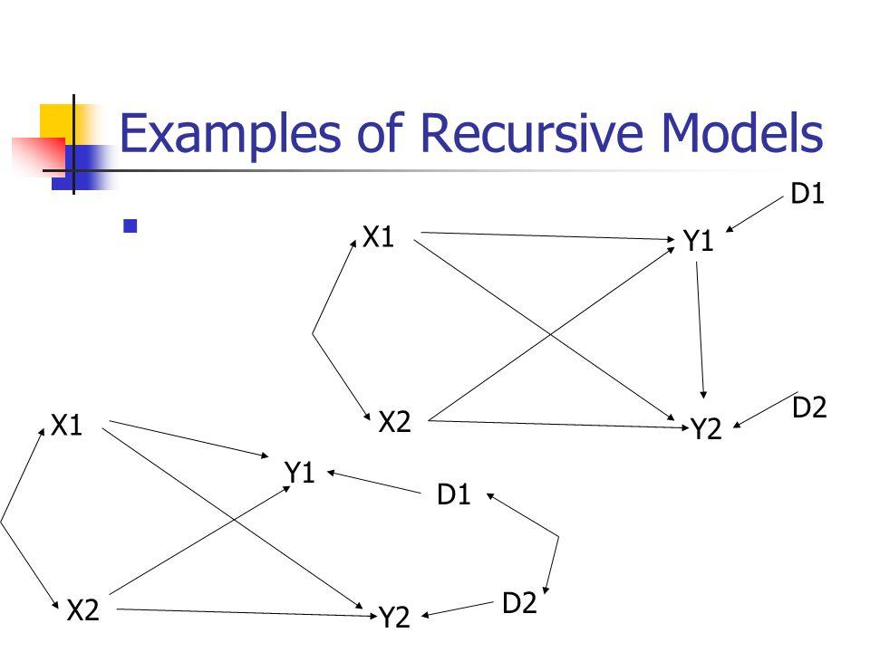 Examples of Recursive Models