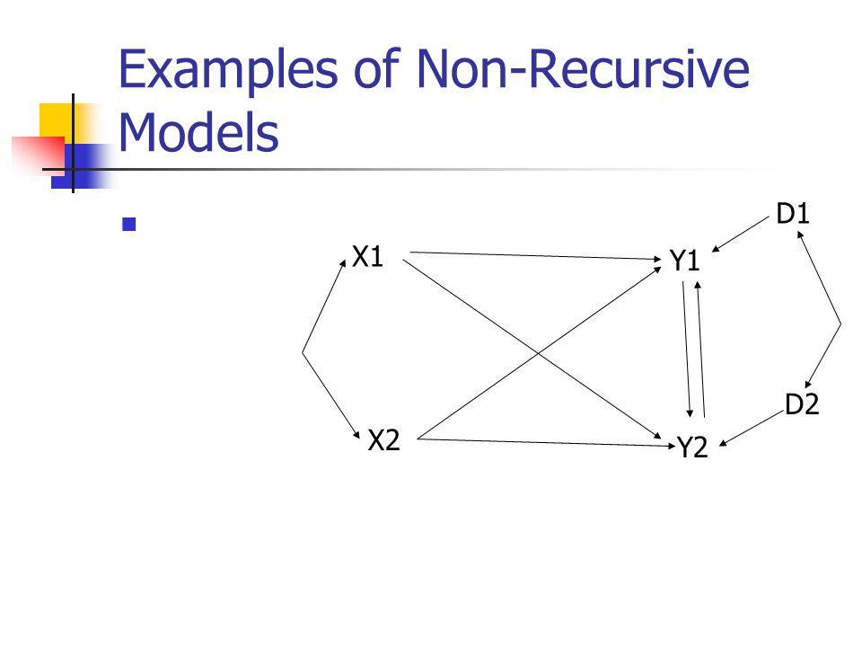 Examples of Non-Recursive Models