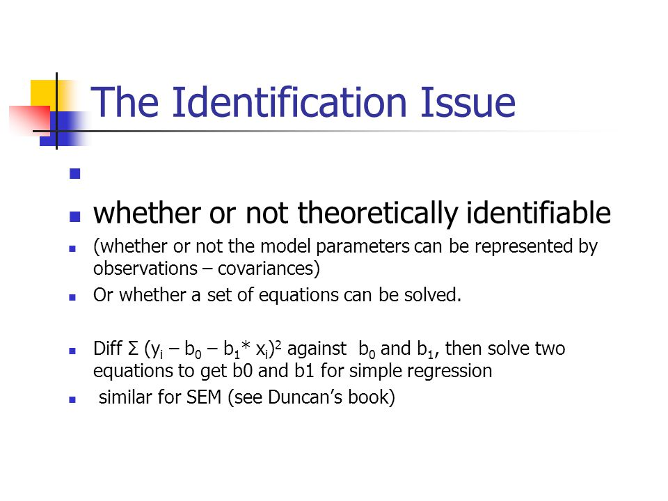 The Identification Issue
