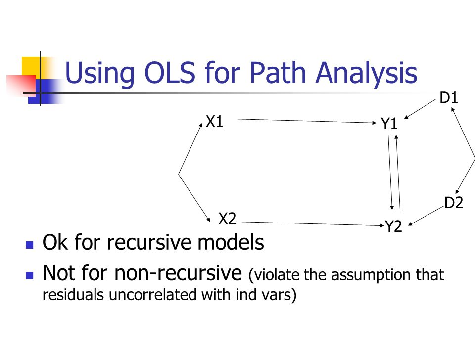 Using OLS for Path Analysis