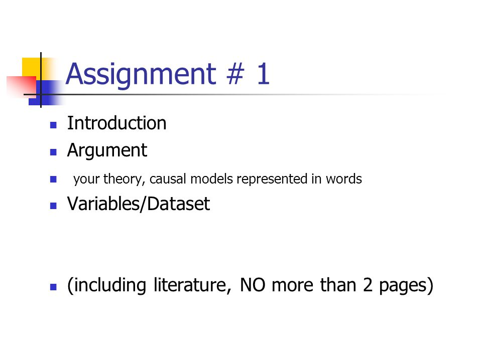 Assignment # 1 Introduction Argument