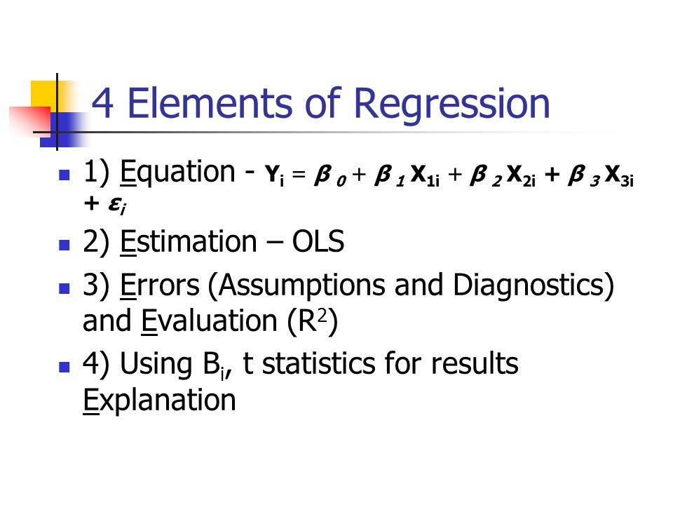 4 Elements of Regression