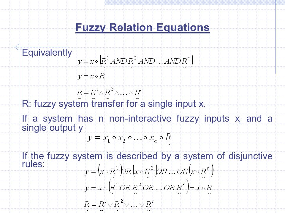 Fuzzy Relation Equations