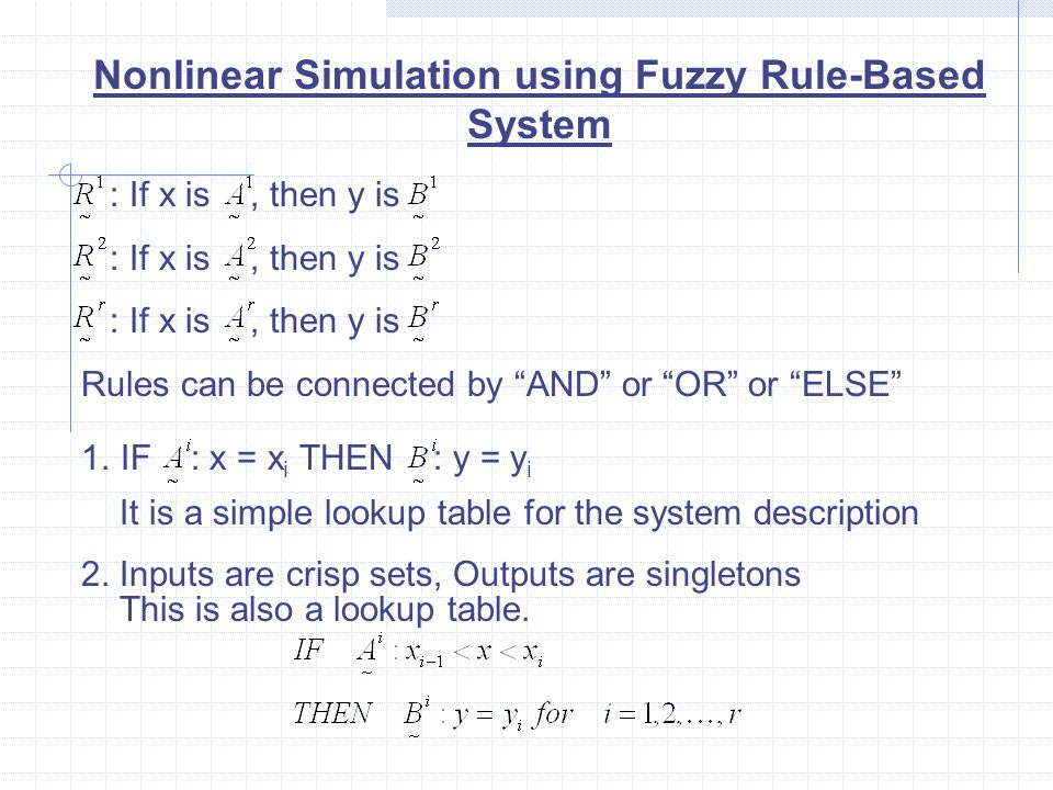 Nonlinear Simulation using Fuzzy Rule-Based System