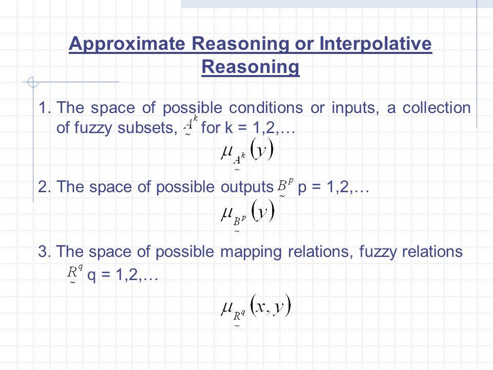 Approximate Reasoning or Interpolative Reasoning