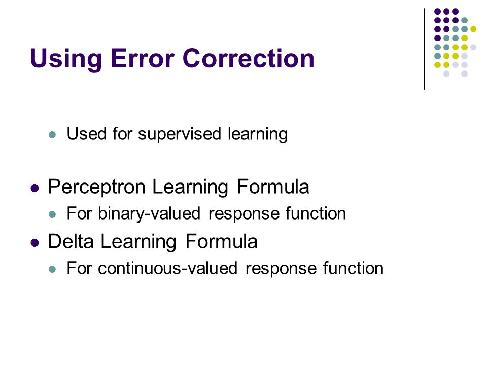 Using Error Correction