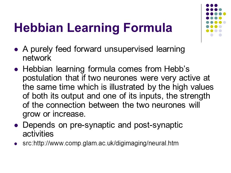 Hebbian Learning Formula