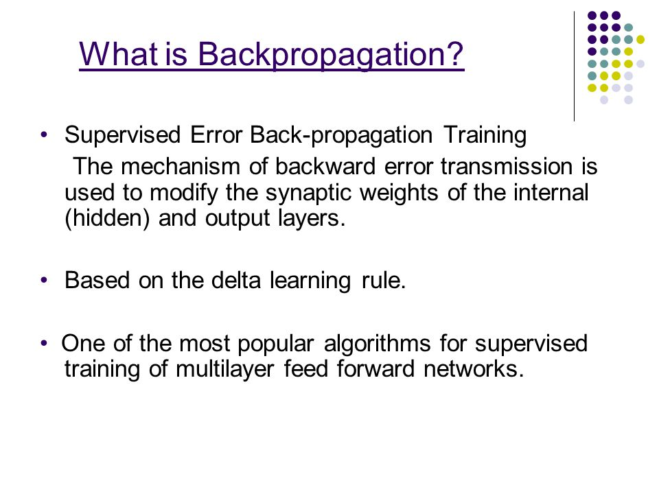 What is Backpropagation
