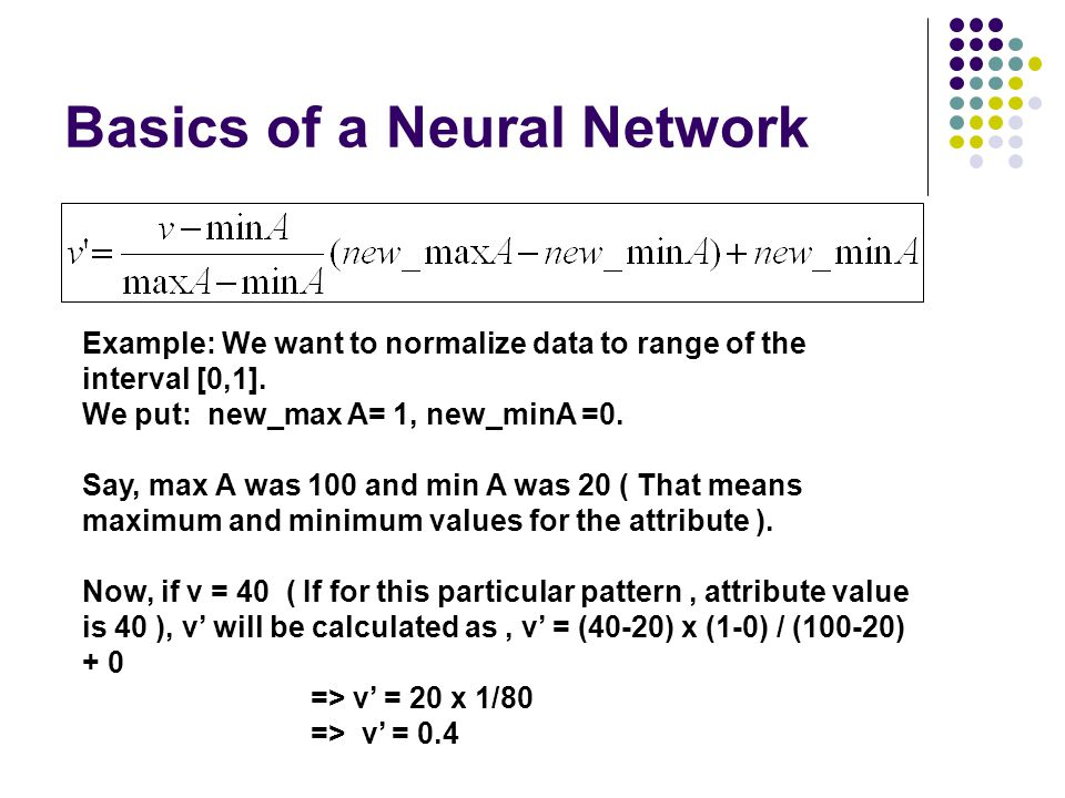 Basics of a Neural Network
