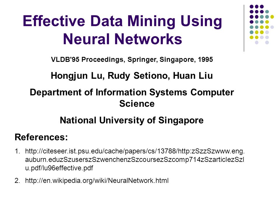 Effective Data Mining Using Neural Networks