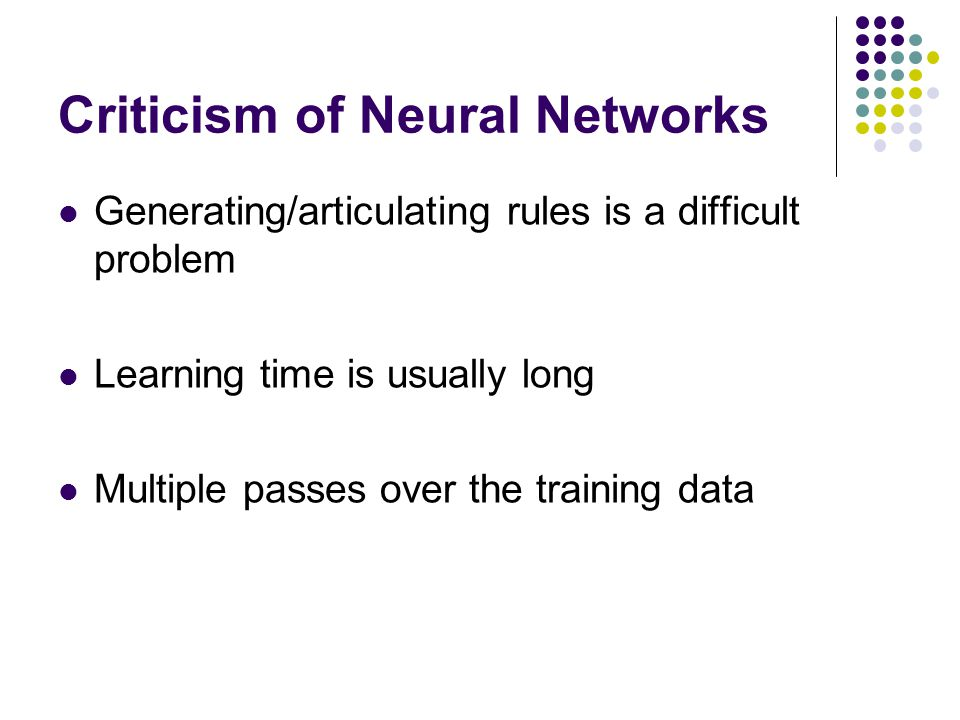 Criticism of Neural Networks