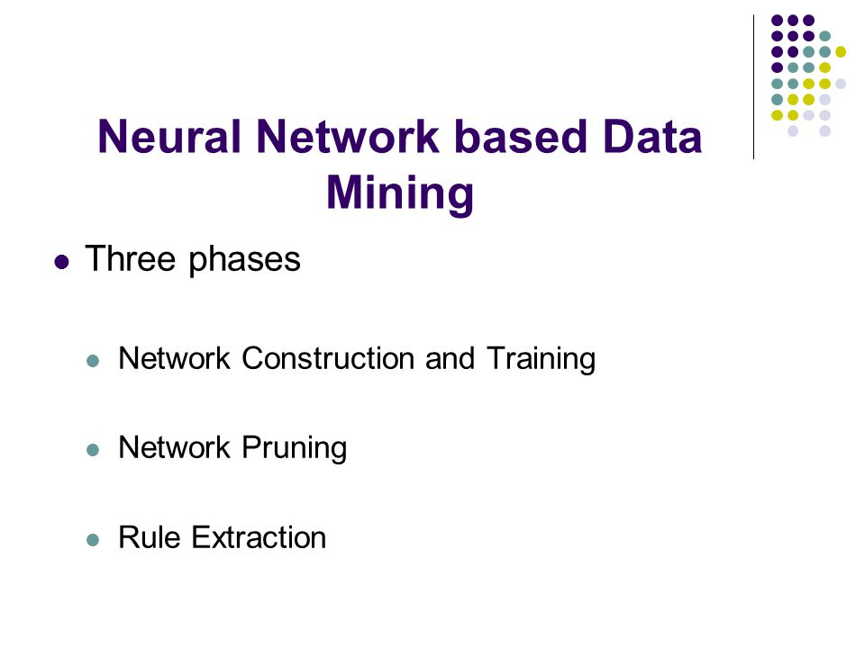Neural Network based Data Mining