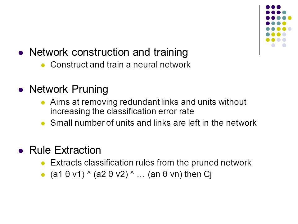 Network construction and training