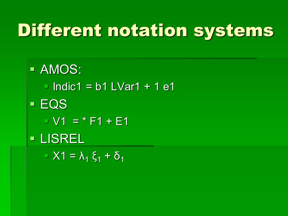 Different notation systems