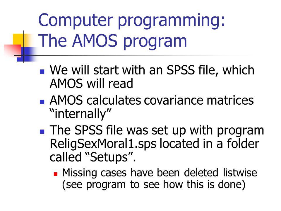 Computer programming: The AMOS program