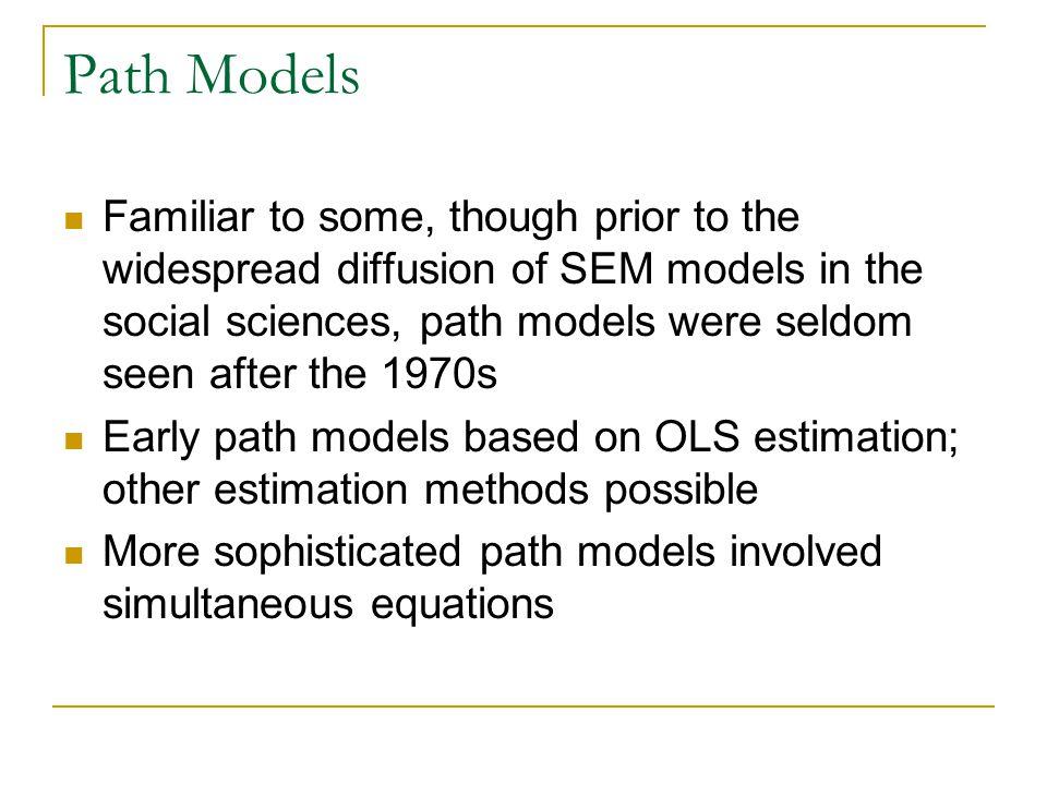 Path Models